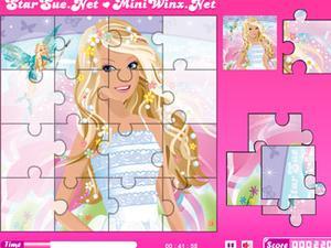 芭比公主拼图 Puzzle 1 小游戏,在线玩芭比公主拼图小游戏 神马游戏